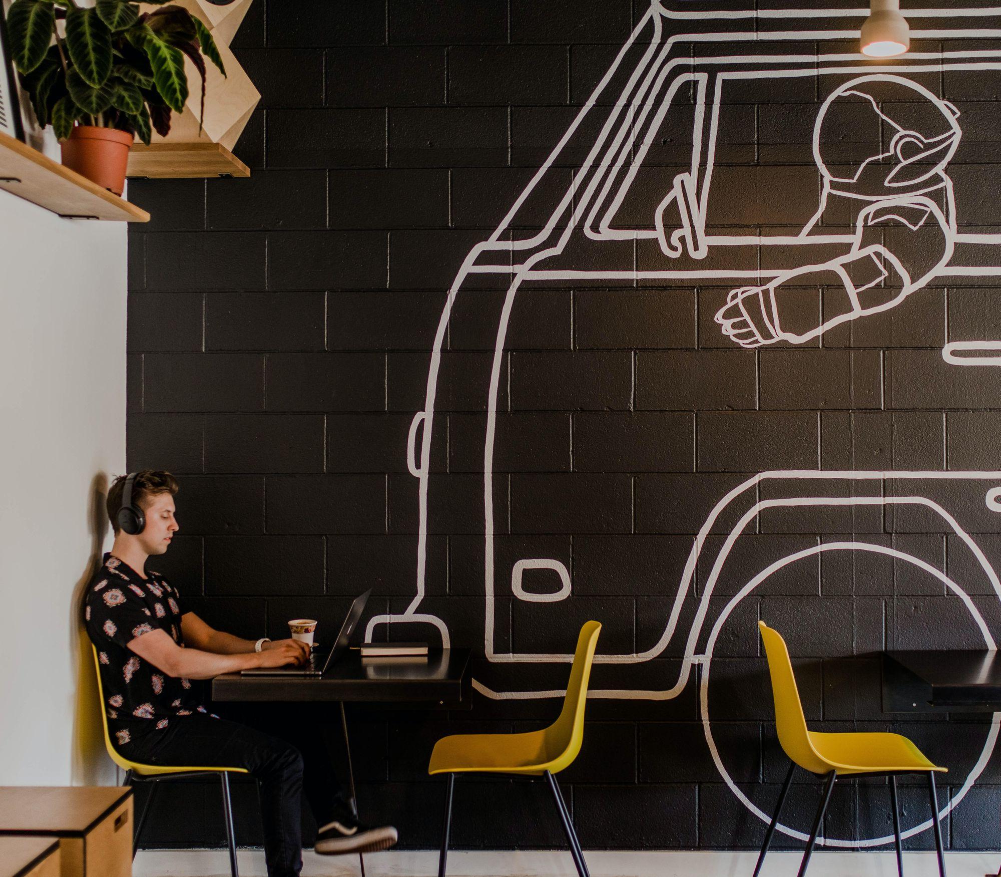 Solo Entrepreneur in cafe