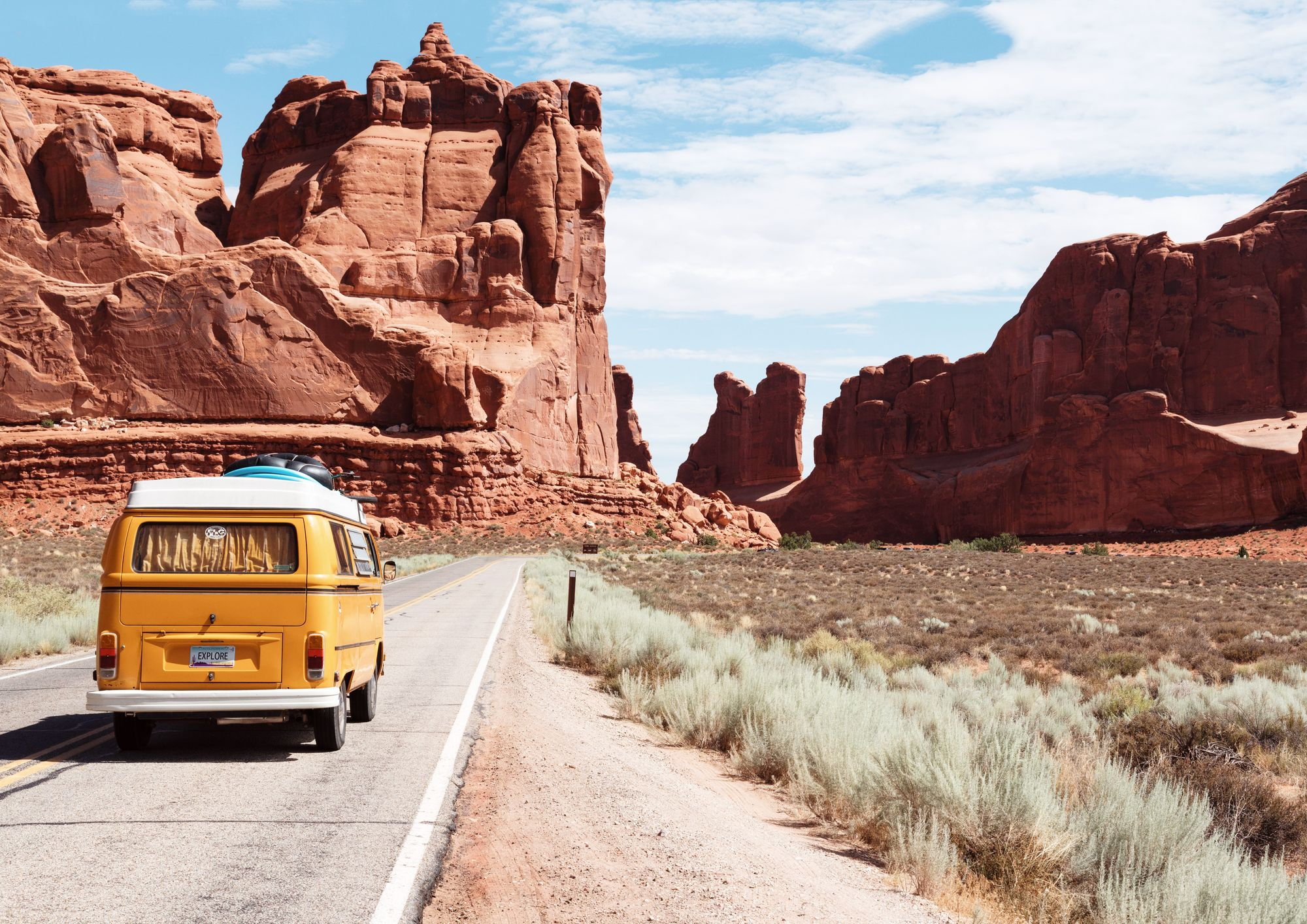Camper van travel vacation life planning