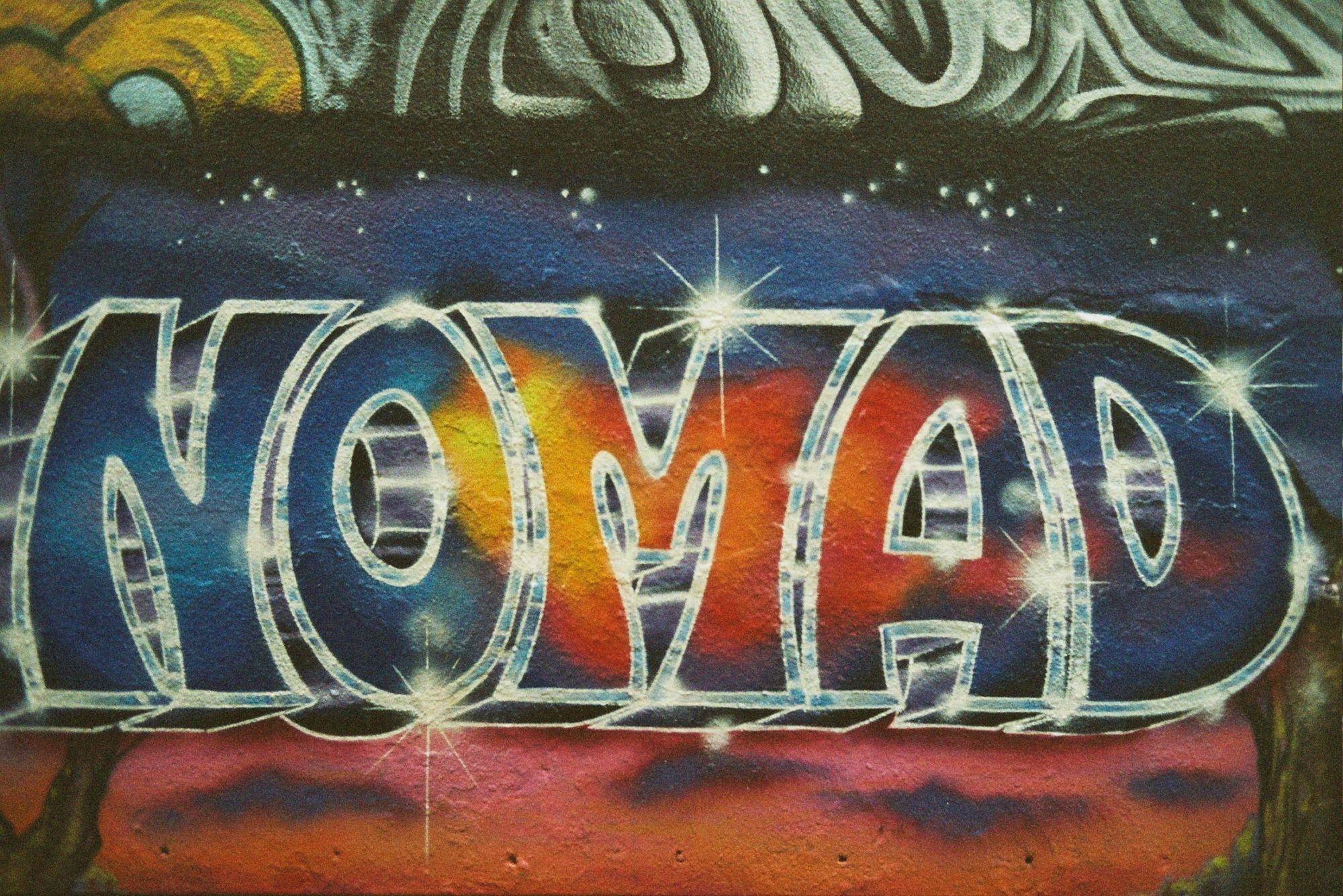 Nomad Street Art Sign