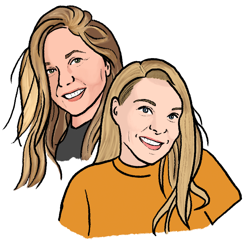 Two women, Chelsey and Pamela, smiling at you