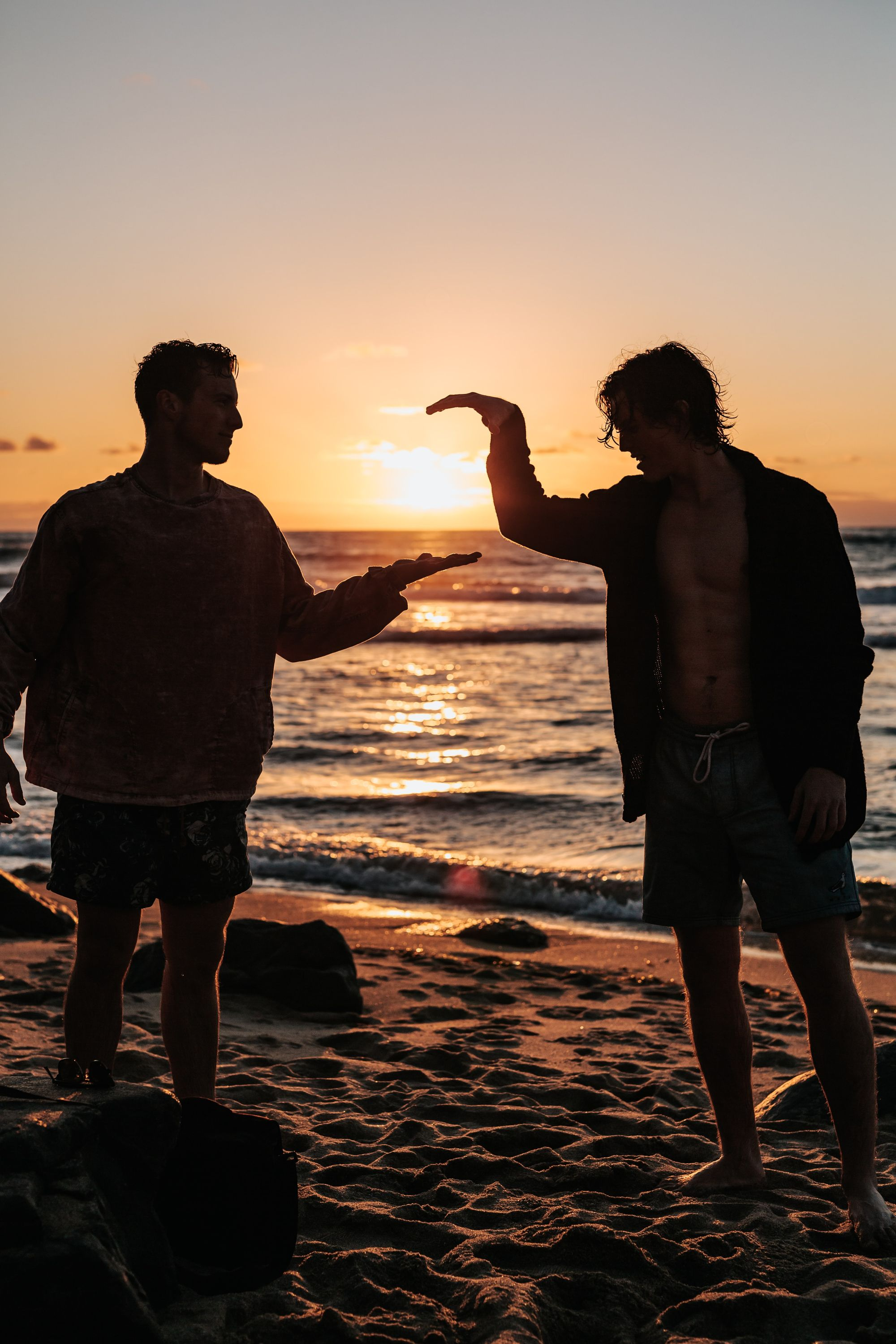 two guys highfiving to strengthen their relationship