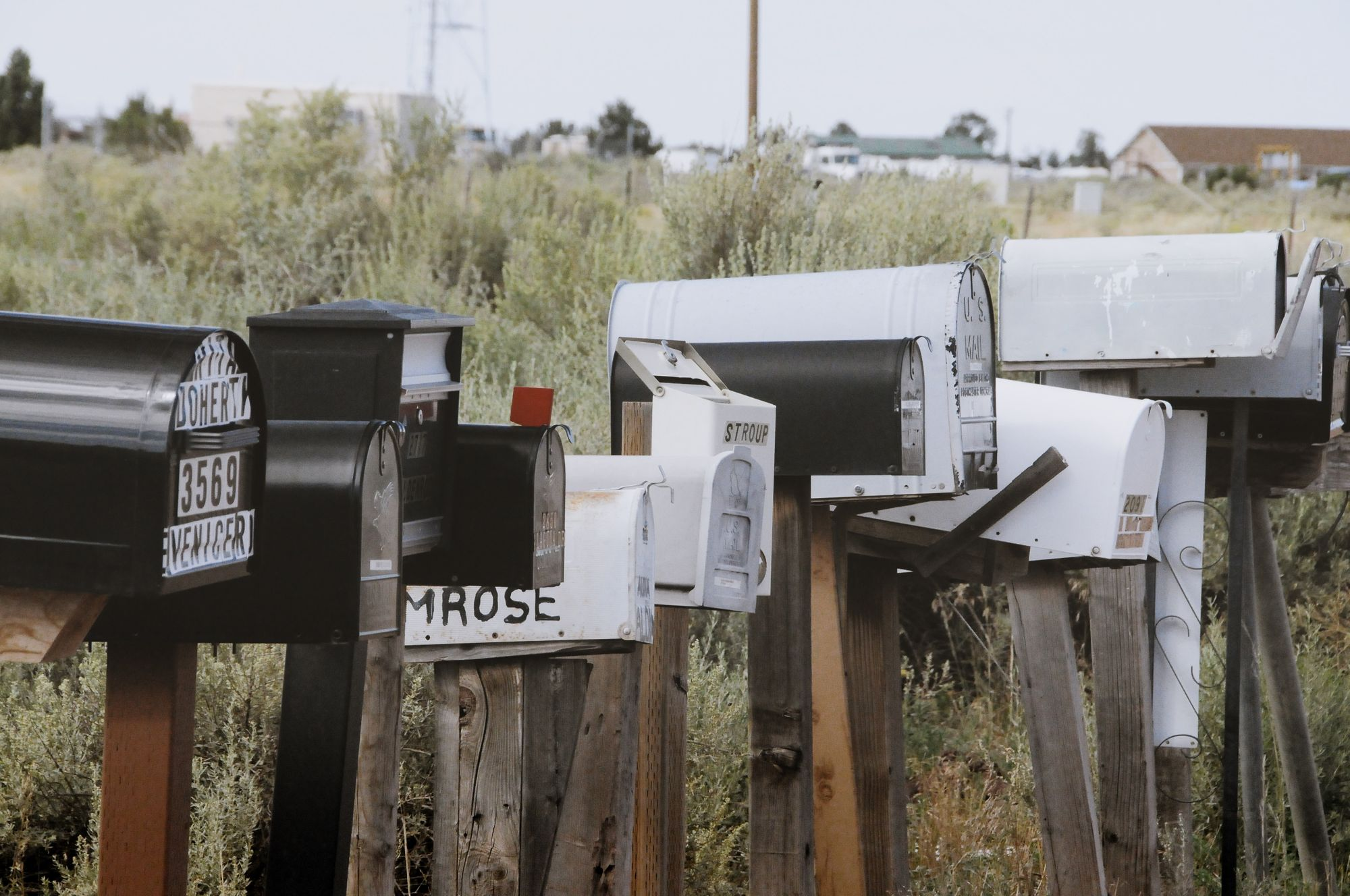 lots of mail boxes